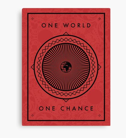 One World Canvas Print