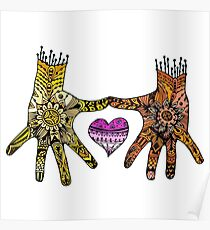 Hands and Heart Poster