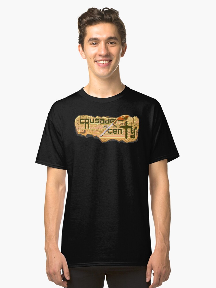 Crusader of Centy (Genesis Title Screen) Classic T-Shirt Front