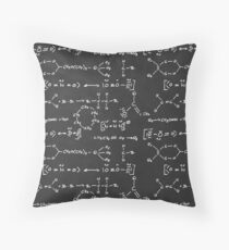 Chemical science formula writing Throw Pillow