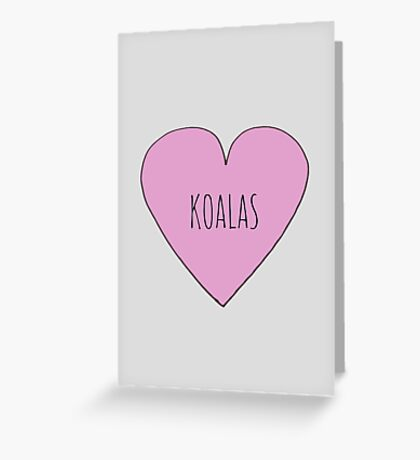 Koala Love Greeting Card