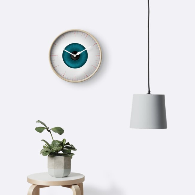 Eyeball Clock by Susan Robinson