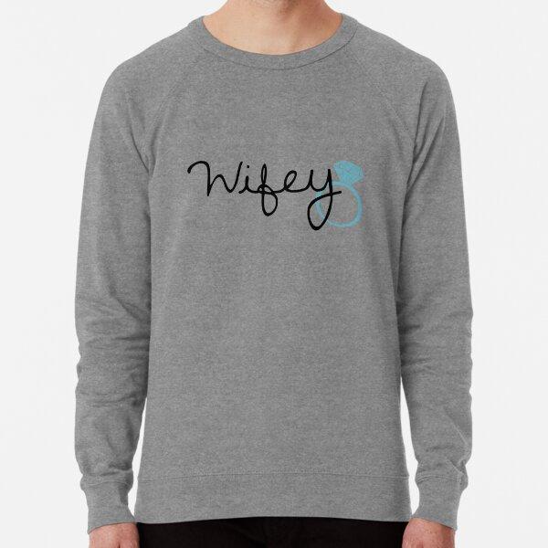 Wifey sweatshirt sweater jumper gift for her wife wifey gift glitter printing