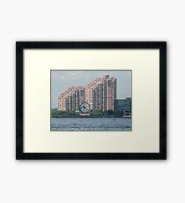 Classic Colgate Clock, Jersey City, Manhattan View Framed Print