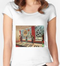 The Big Piano, FAO Schwarz Toy Store, New York City Women's Fitted Scoop T-Shirt