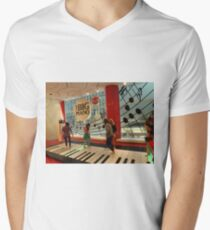The Big Piano, FAO Schwarz Toy Store, New York City Mens V-Neck T-Shirt