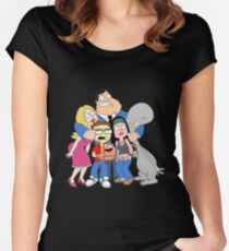 american dad Women's Fitted Scoop T-Shirt