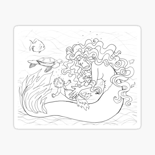 Nurture line art Sticker