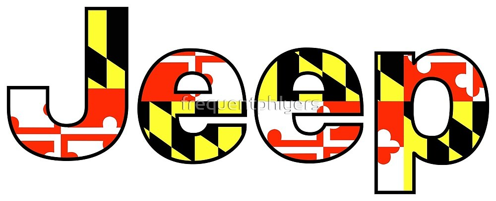 Maryland Flag Jeep Decal by frequentphlyers