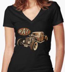 RAT - Classic Rat Women's Fitted V-Neck T-Shirt