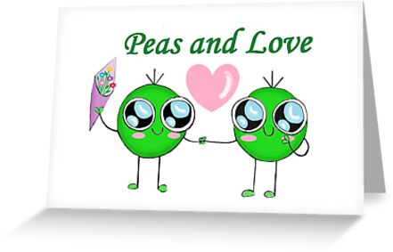 Peas and Love (Peace and Love) by doodleworld