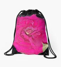 Pink Rose Drawstring Bag