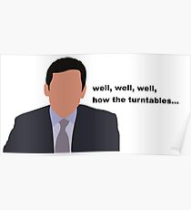 Michael Scott Turntables Poster