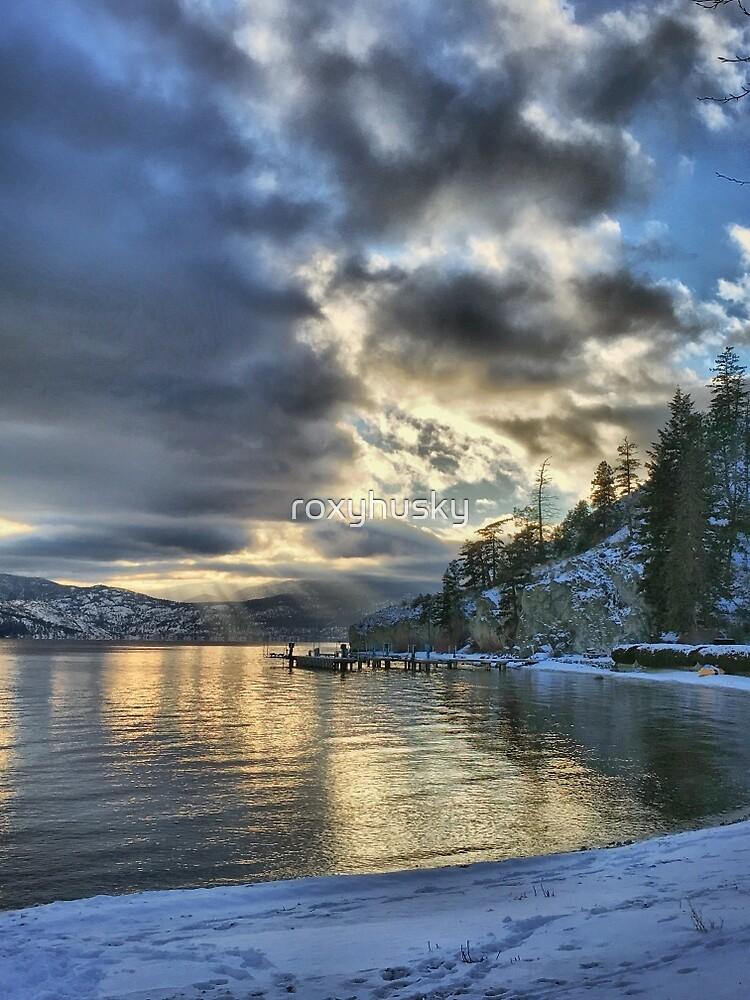 British Columbia, Lake Okanagan, Kelowna Winterscape by roxyhusky