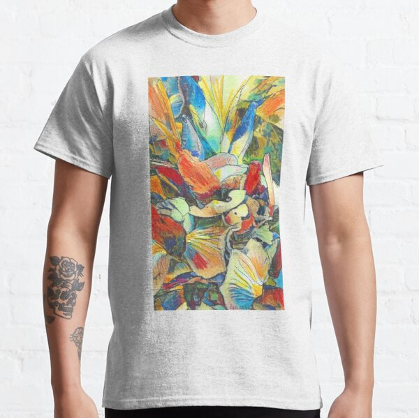 Iris Floral Abstract Design- Flower Picture Classic T-Shirt