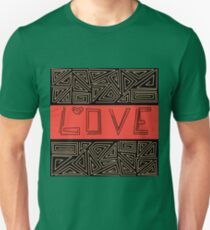Black and red abstract pattern . Love Unisex T-Shirt