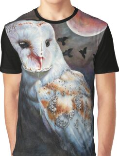 Owl of the Blood Moon Heart Graphic T-Shirt