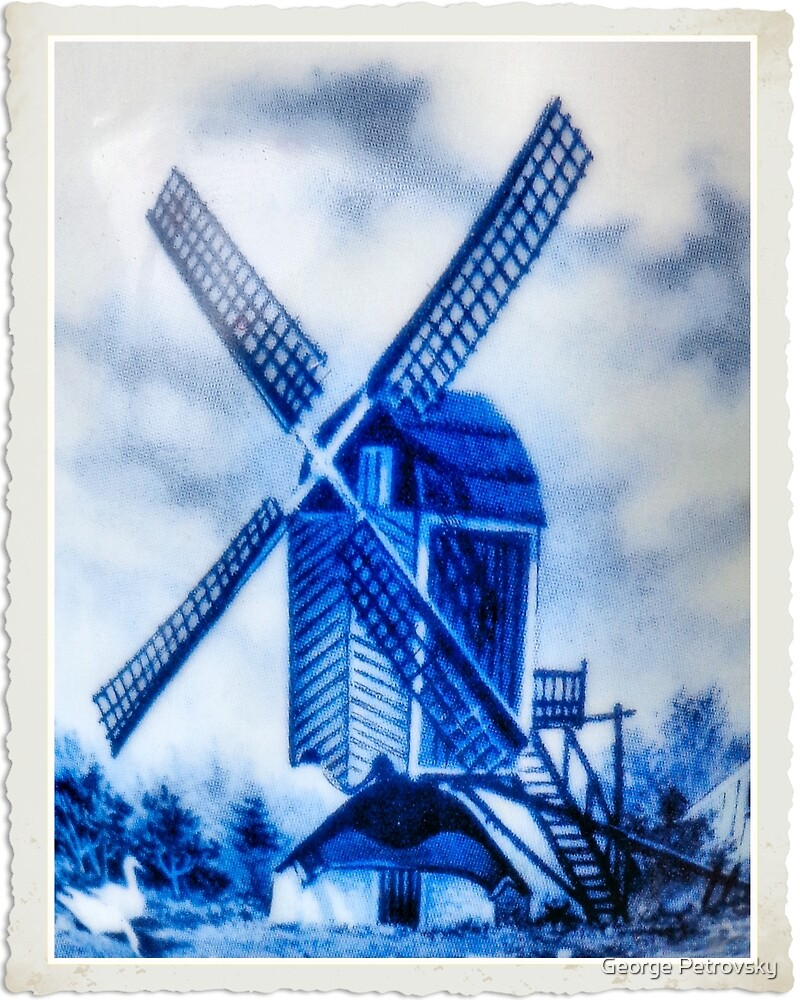Blue Windmill by George Petrovsky