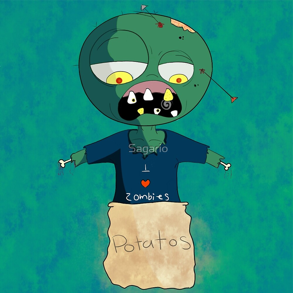 I Love Zombies by Sagario