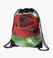 Velvet Folds of the Rose Drawstring Bag