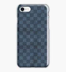 Checker Blue Denim Texture iPhone Case/Skin
