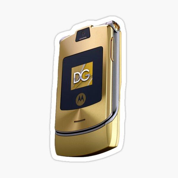Motorola Razr: gold  Sticker