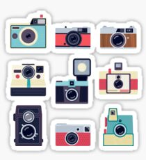 Retro Cameras Stickers Set Sticker