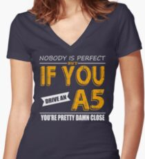 Audi A5 Women's Fitted V-Neck T-Shirt