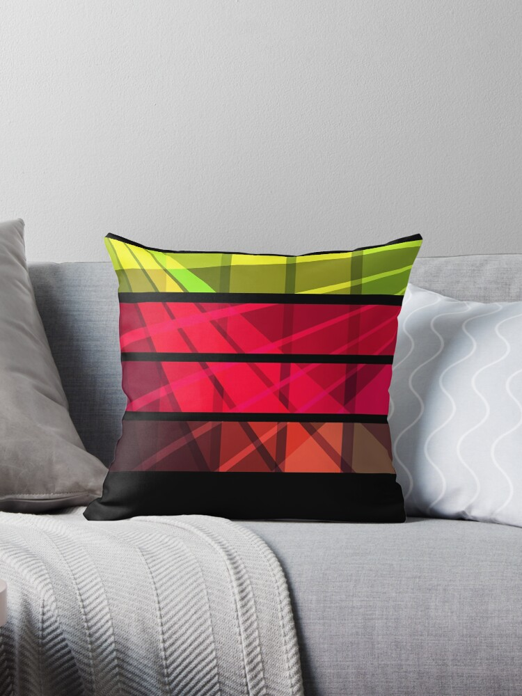 Black, red, yellow , green abstract striped a simple cell pattern . by fuzzyfox