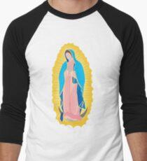 Camiseta ¾ bicolor para hombre Virgen de Guadalupe / virgin / madona / our lady