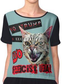 No Fascist USA Cat Chiffon Top