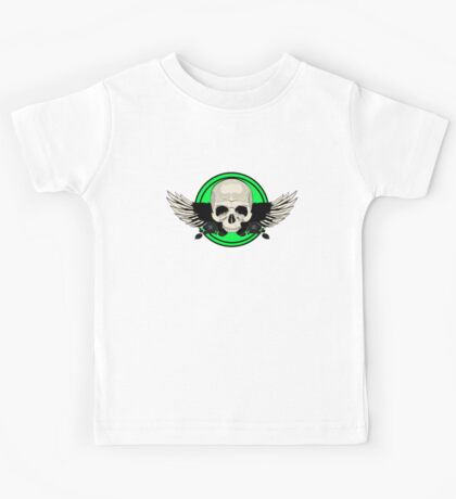 Wing Skull - GREEN Kids Clothes