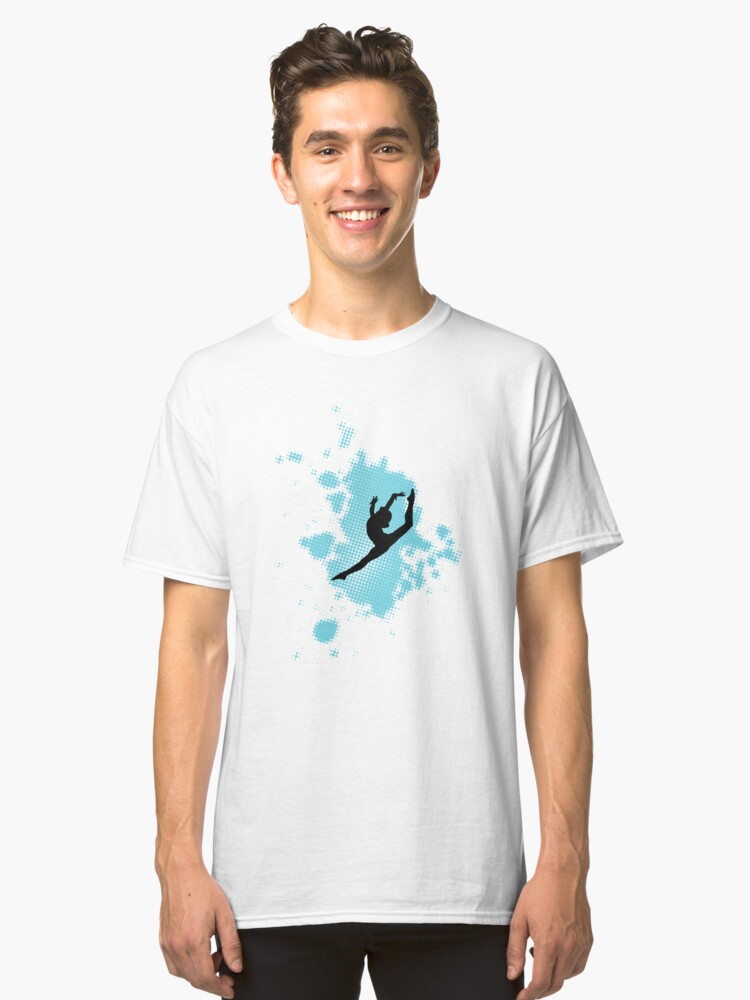 Gymnastics Silhouette  Classic T-Shirt Front