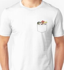 Powerpuff Girls Blossom, Bubbles and Buttercup Pocket Unisex T-Shirt