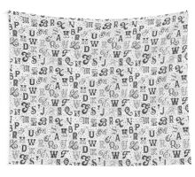 Lettering Hype Wall Tapestry