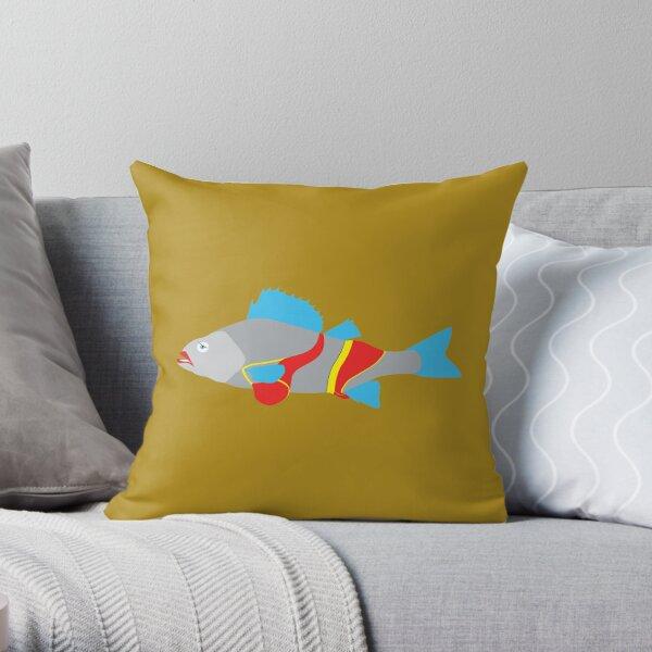 fish underwear Throw Pillow