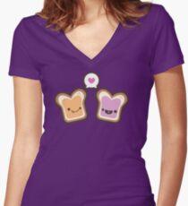 PB&J Love Women's Fitted V-Neck T-Shirt