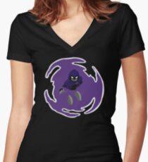 Teen Titans - Raven breaks through Women's Fitted V-Neck T-Shirt
