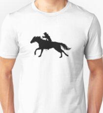 Rodeo Theme - Barrel Racer Silhouette T-Shirt