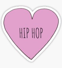 Hip Hop Love Sticker