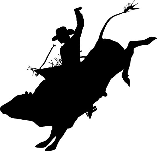 Quot Rodeo Theme Bucking Bull Silhouette Quot Photographic
