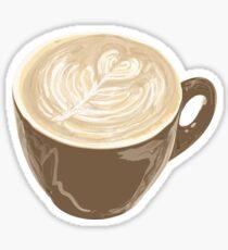 heart latte art Sticker