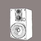 Classic 80s Analog Stereo Speaker  by Framerkat