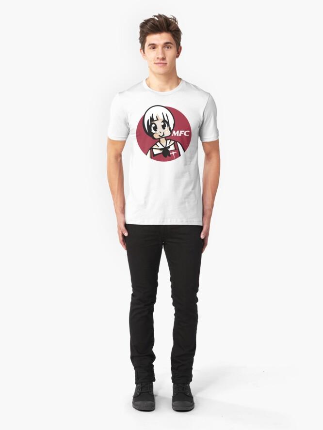 Alternate view of Mankanshoku Fried Croquettes (circle style) Slim Fit T-Shirt