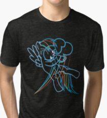 Rainbow Dash and Cutie Mark Inspired Tri-blend T-Shirt