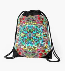 Floral Fantasy Collection - Flower Frenzy Drawstring Bag