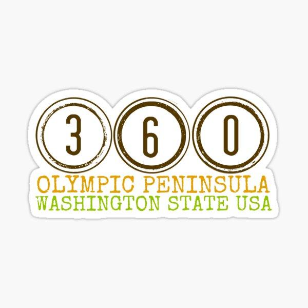 (360) Olympic Peninsula  Sticker
