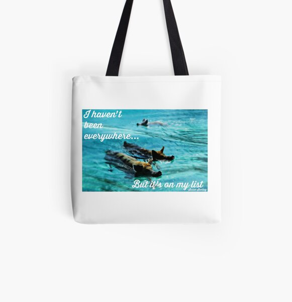 Bucket List Travel Quote Collection All Over Print Tote Bag