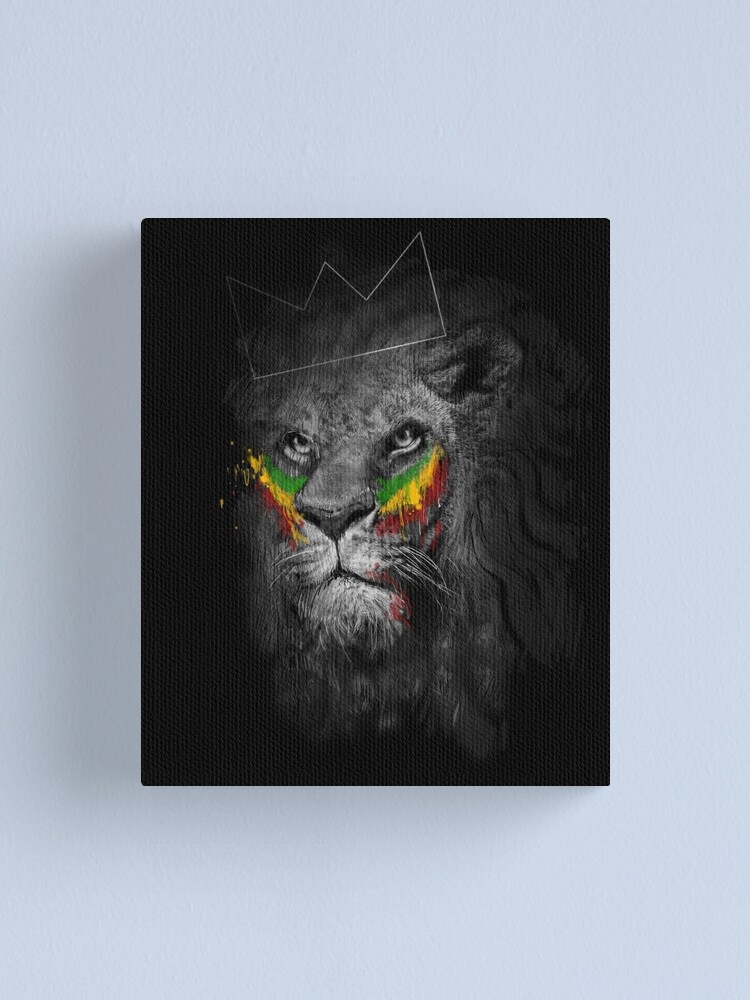 Bob Marley Painting Reggae music Artwork Stretched Canvas Print