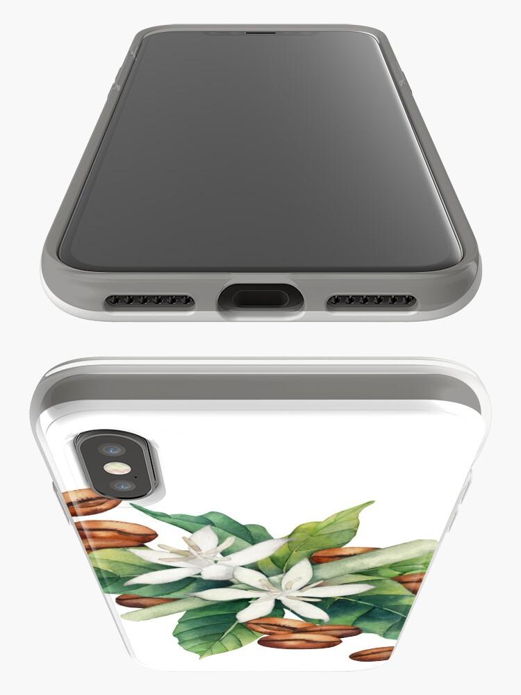 Alternative Ansicht von Aquarell Kaffee Vignette iPhone-Hülle & Cover